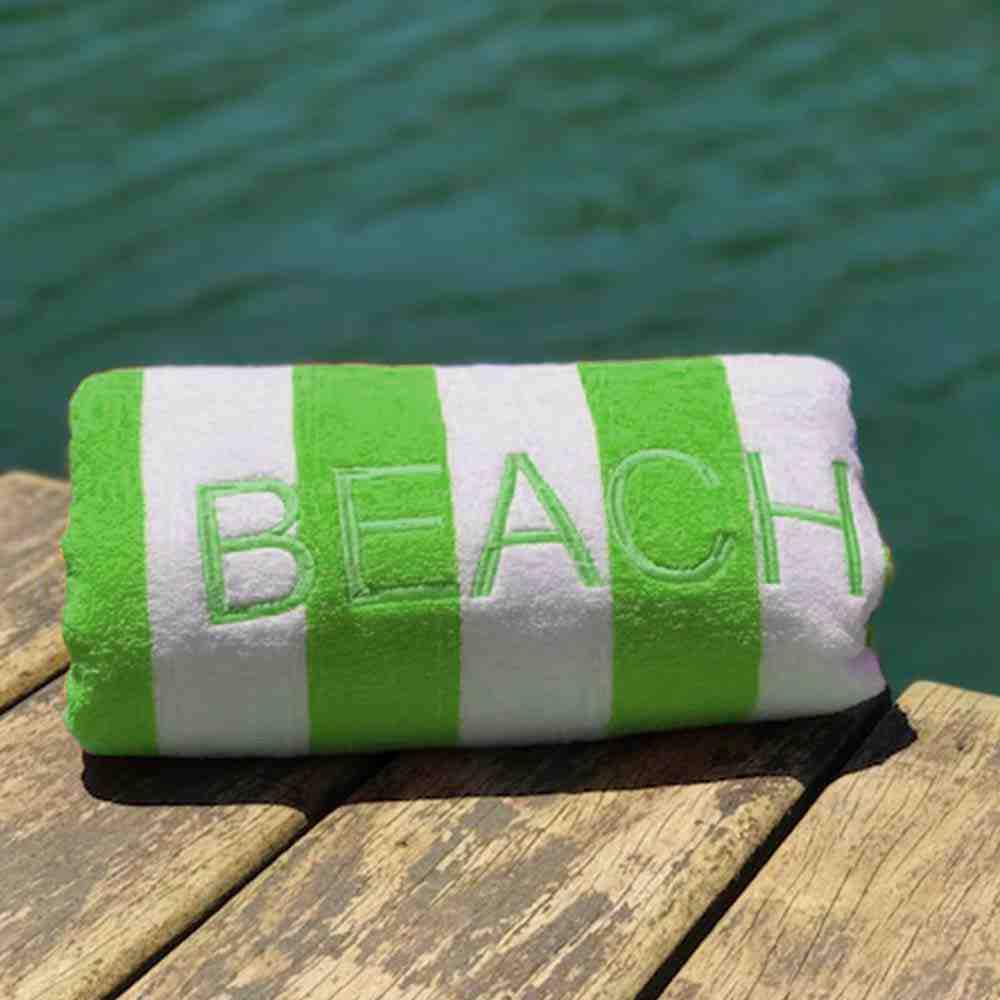 Toalha de Praia Beach Stripe Verde