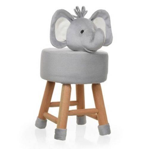 Banco Infantil de Pelúcia - Elefante