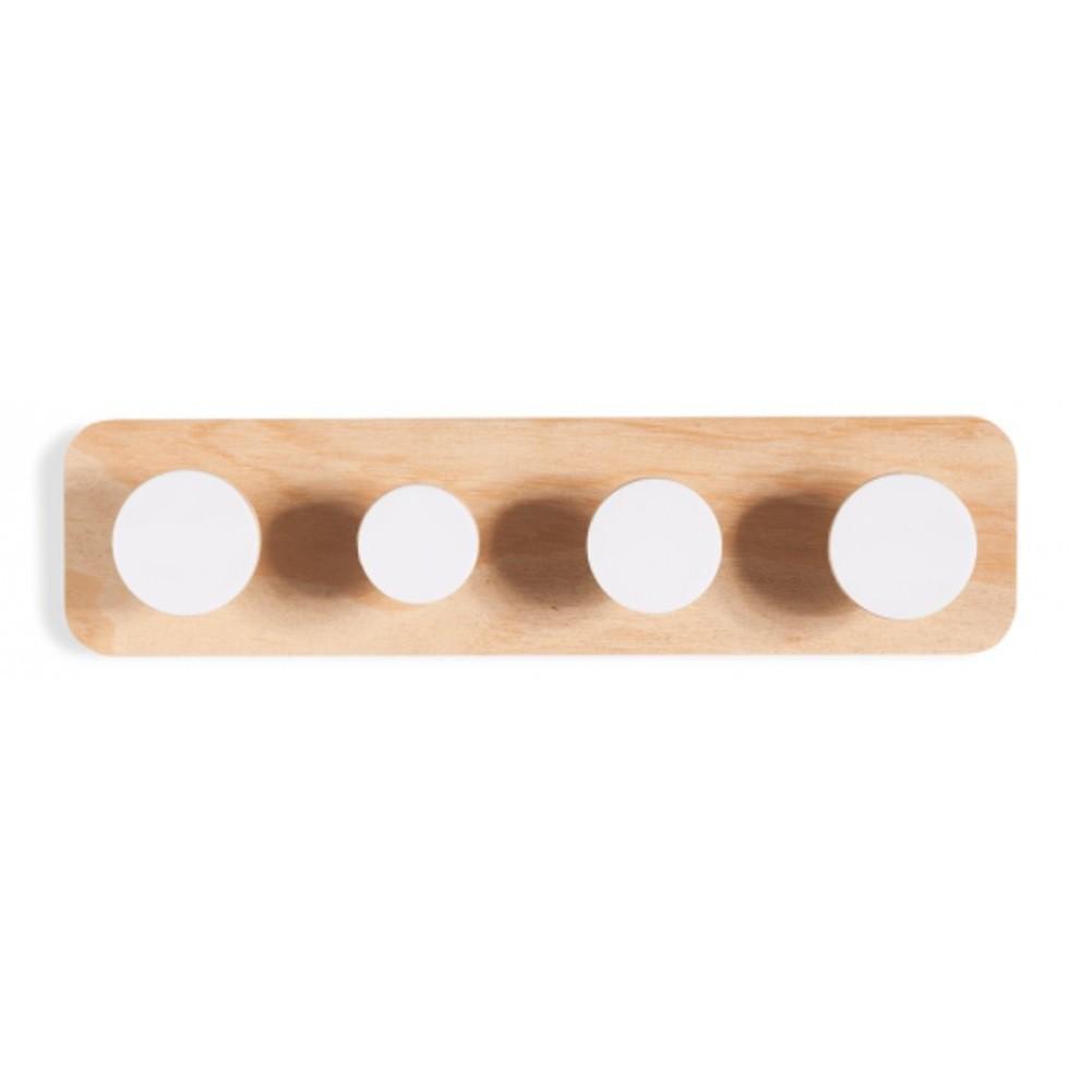 Cabideiro Twister de madeira branco