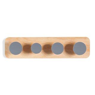 Cabideiro Twister de madeira cinza