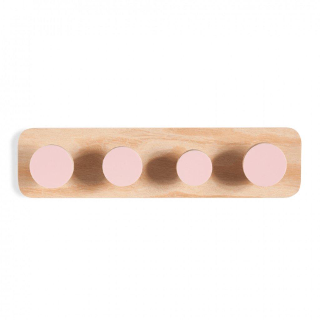 Cabideiro Twister de madeira rosa