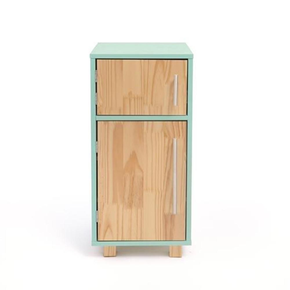 Geladeira infantil  de madeira verde agua