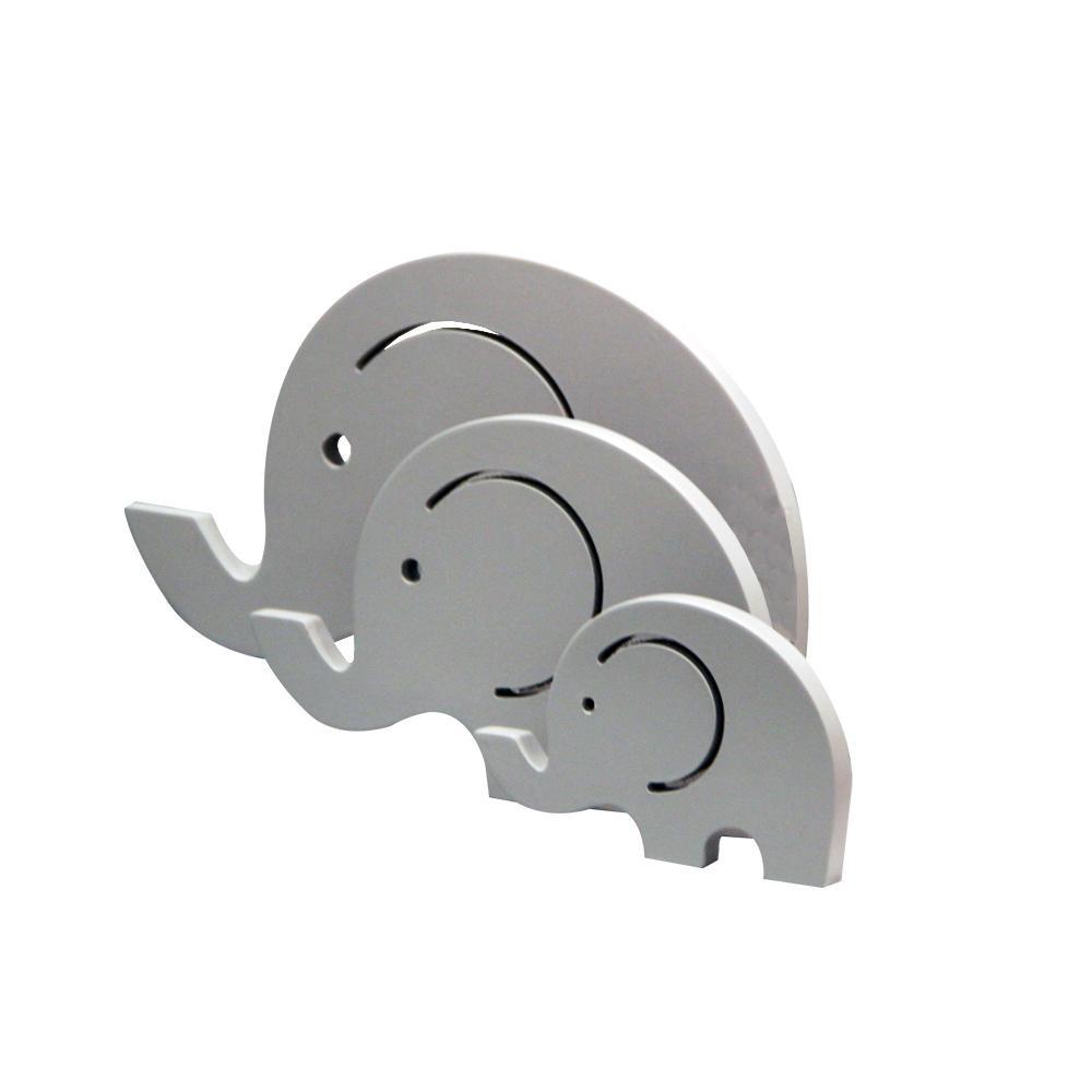 Jogo com 3 Esculturas Elefantes