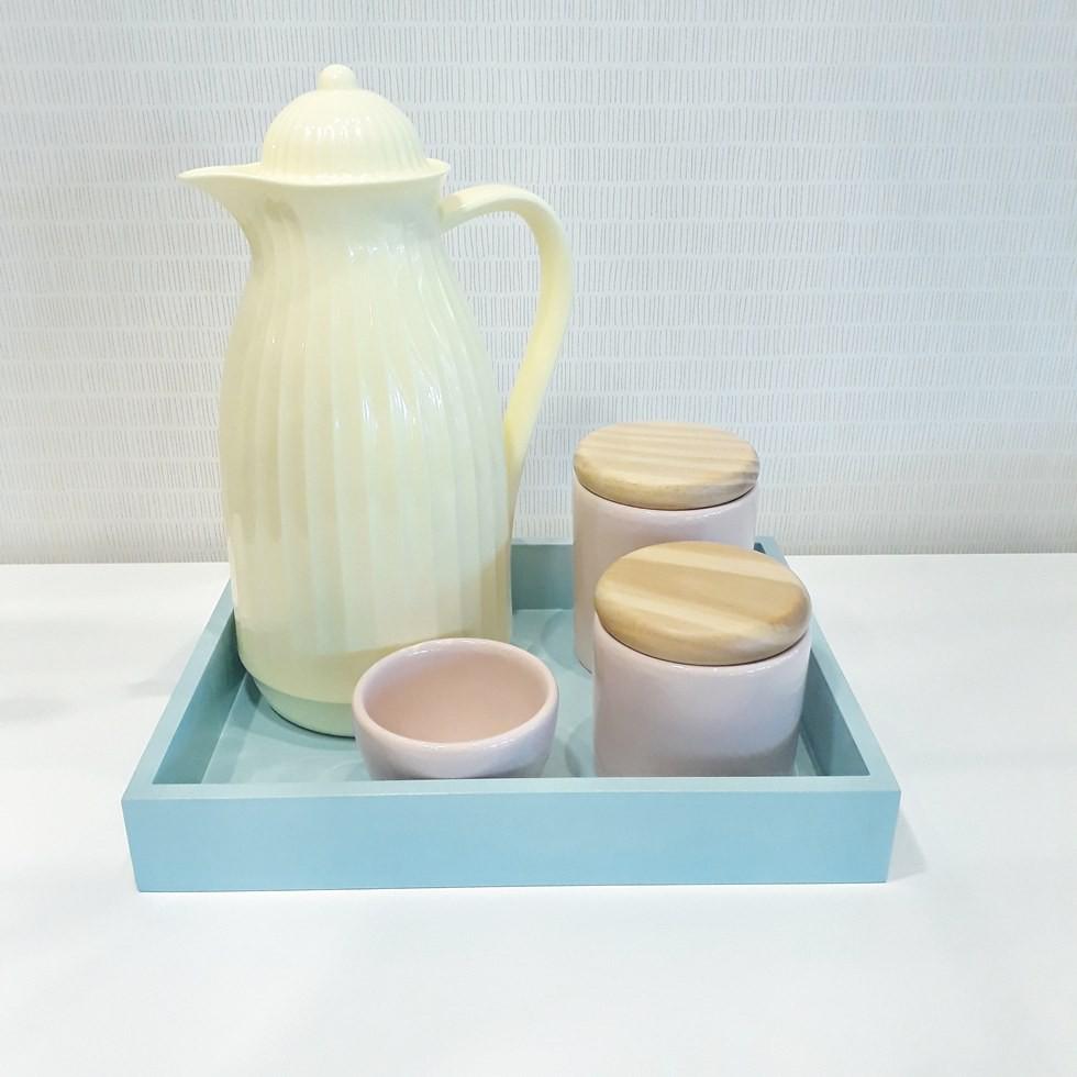 Kit Higiene Amarelo e Tiffany