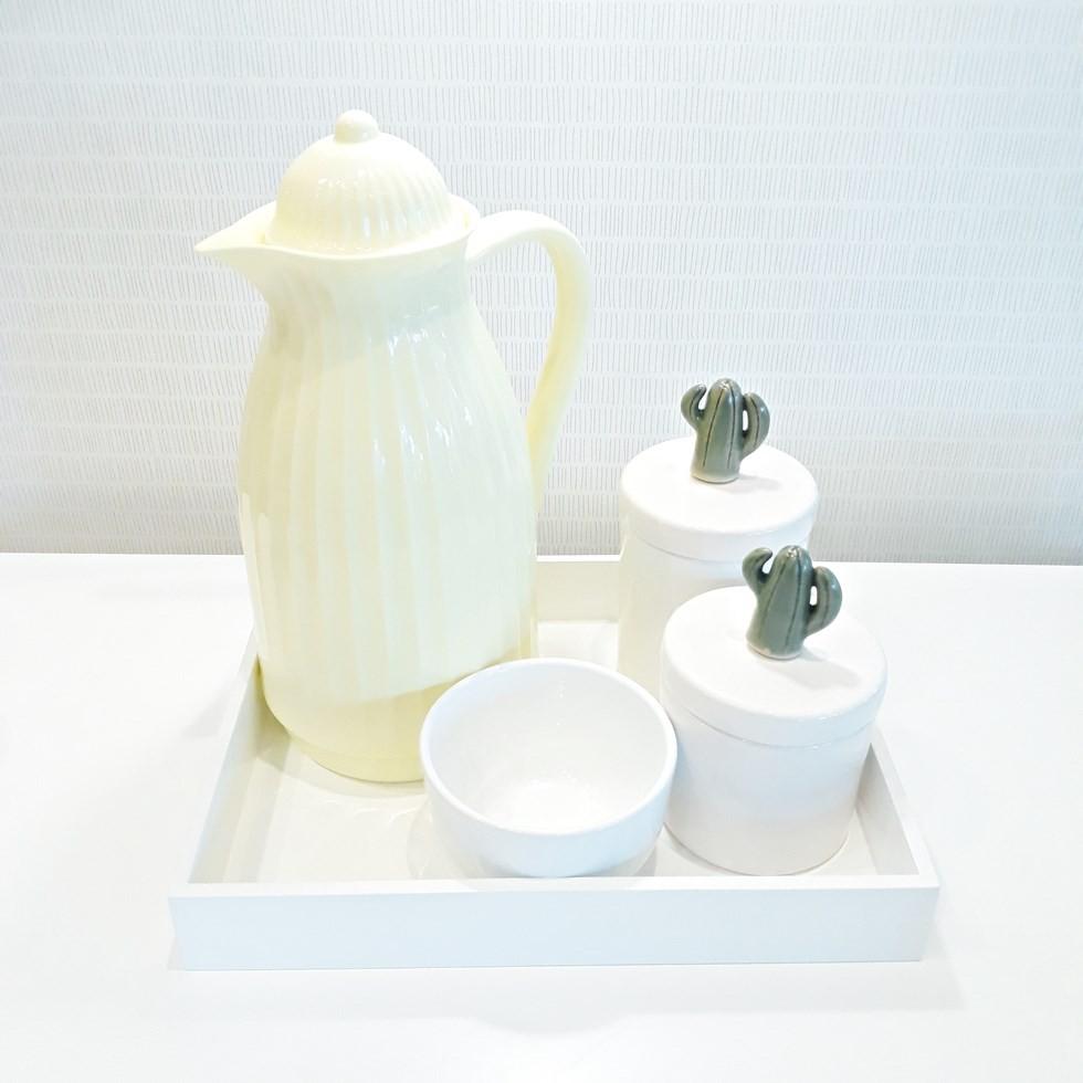 kit Higiene Branco Cactos