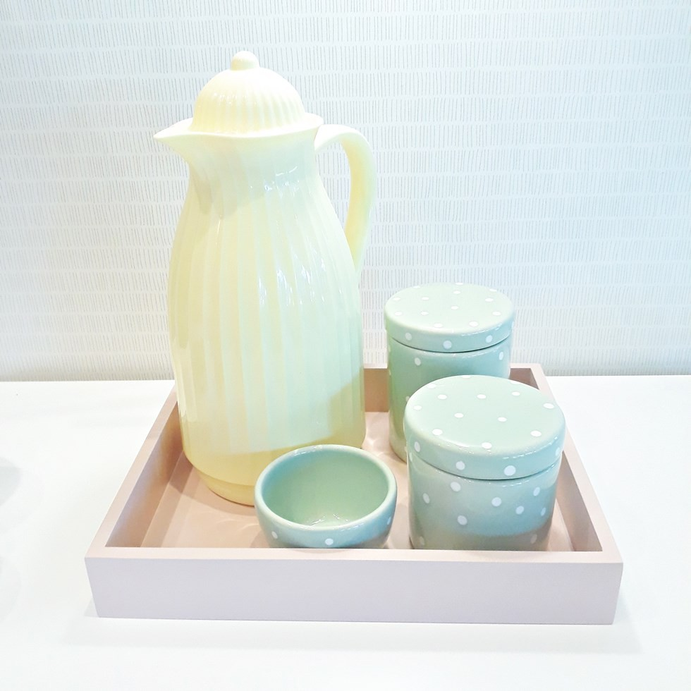 Kit Higiene Candy Color Verde Poá