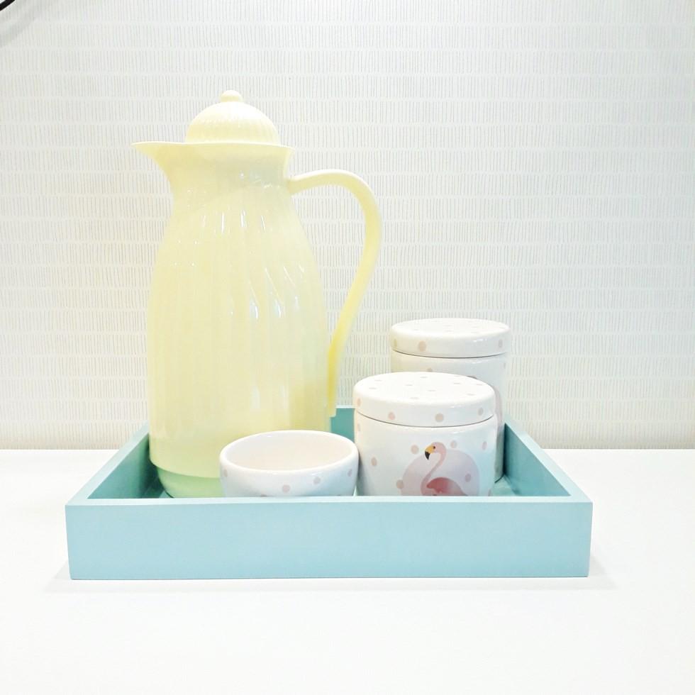Kit higiene Flamingo Amarelo