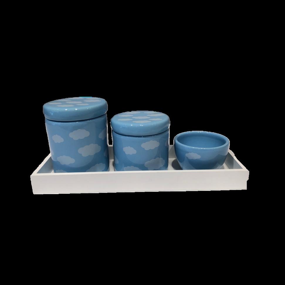 Kit Higiene Nuvem Azul