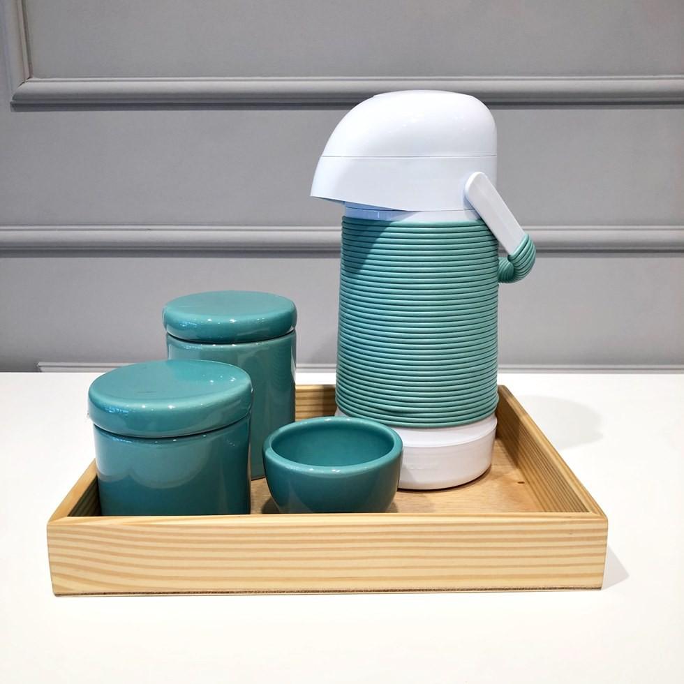 Kit Higiene Verde e Madeira
