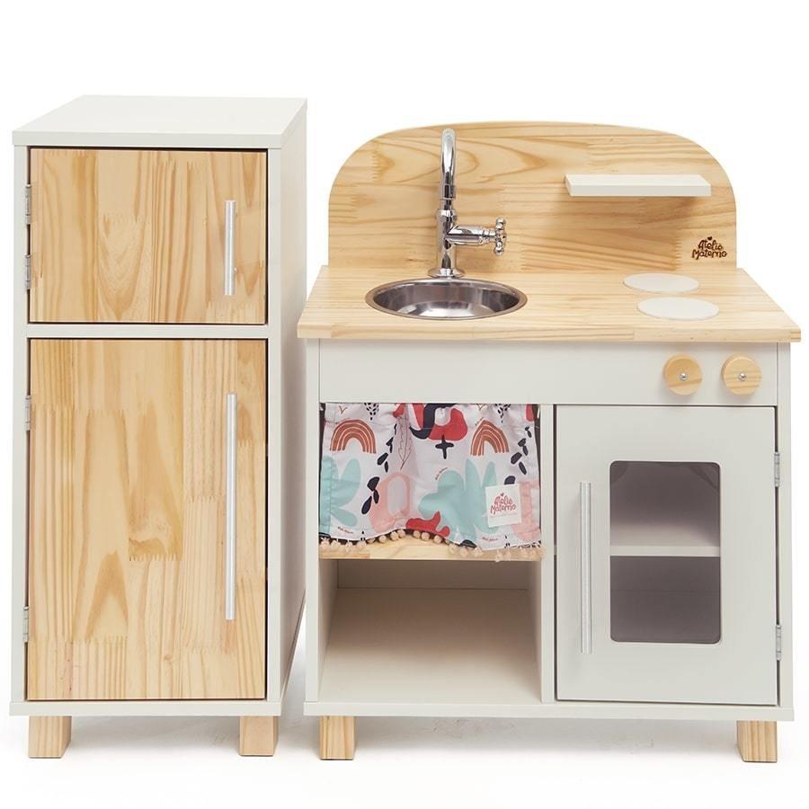 Kit Mini Cozinha e Geladeira Branco