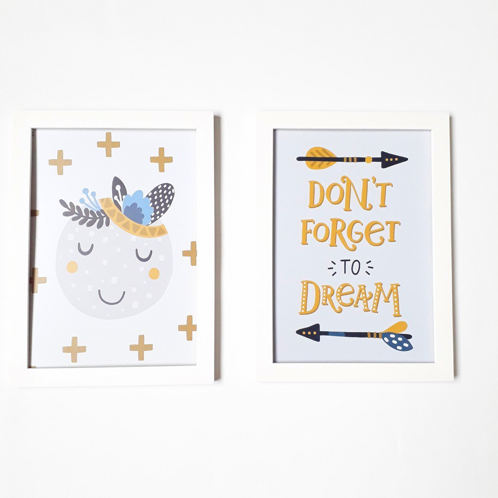 Kit Quadros Dont Forget to Dream