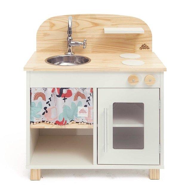 Mini Cozinha de madeira branca