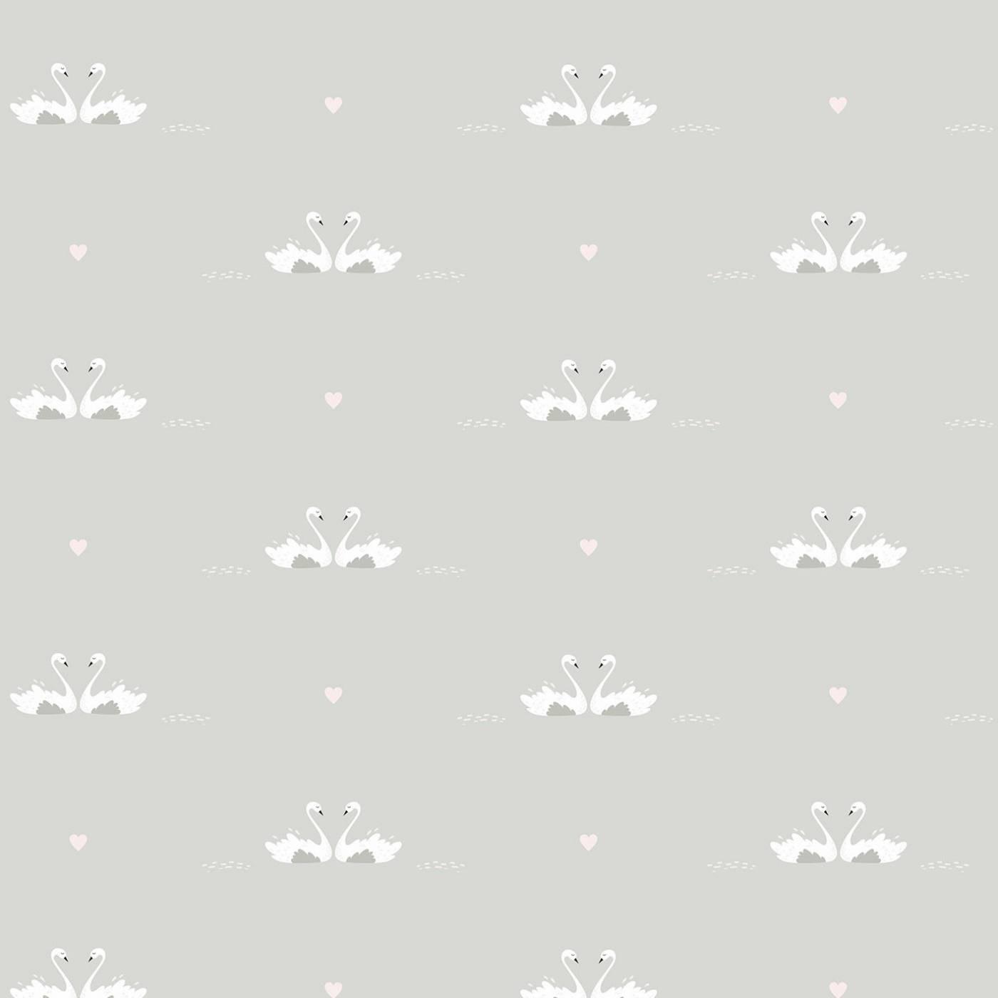 Papel de Parede Cisne Cinza