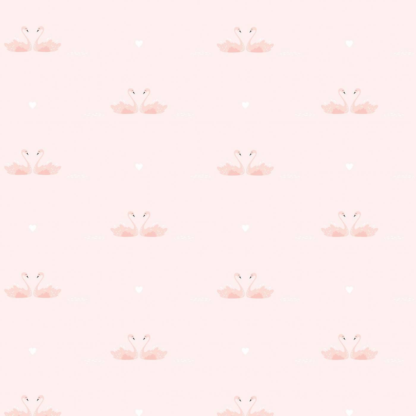 Papel de Parede Cisne Rosa