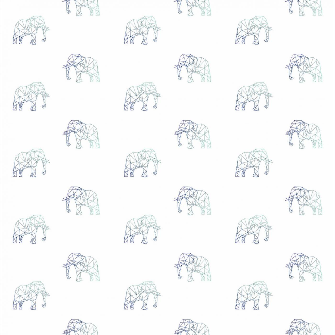 Papel de Parede Elefante Azul