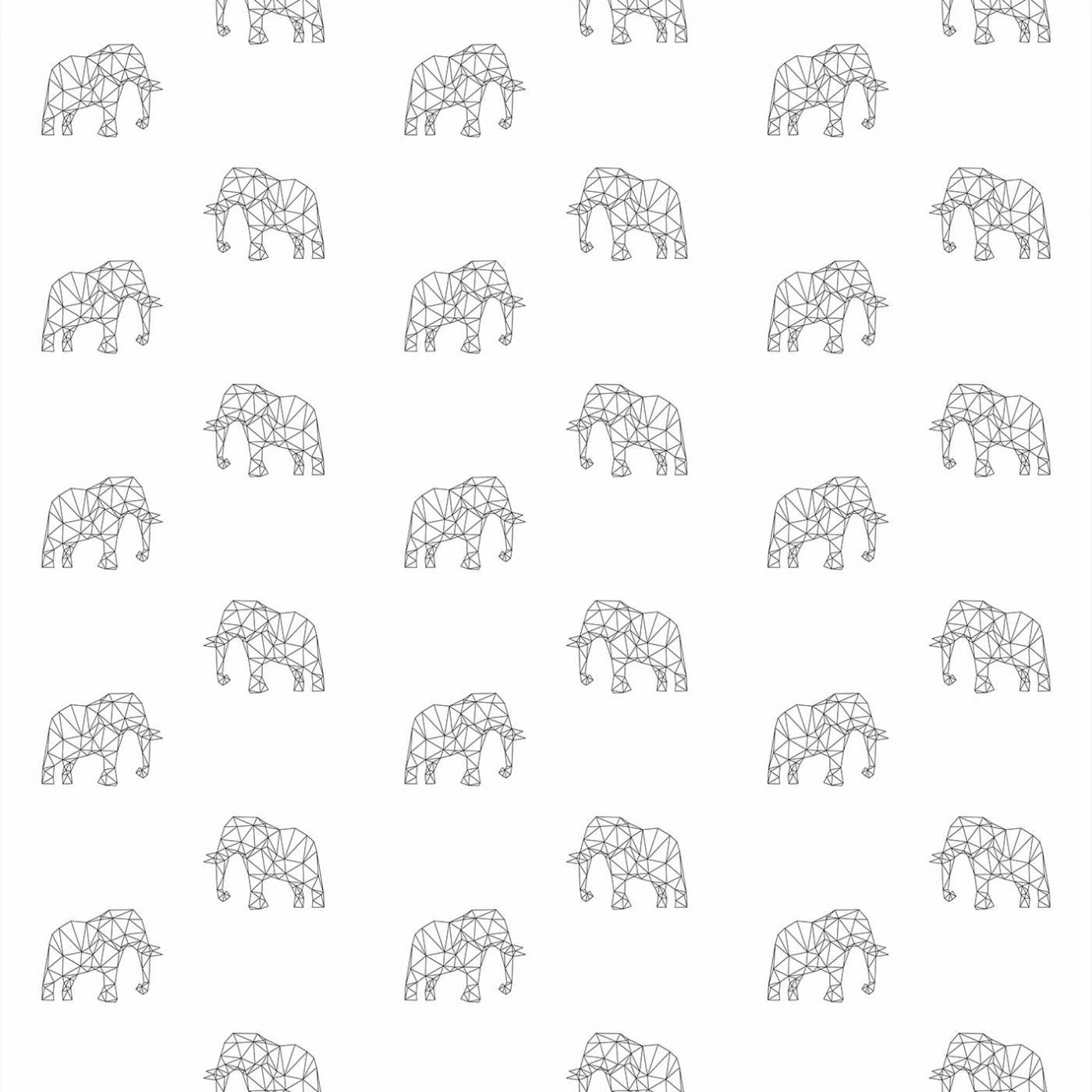 Papel de Parede Elefante Preto