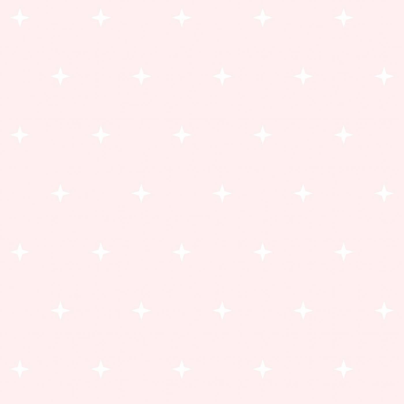 Papel de Parede Estrelas Fundo Rosa