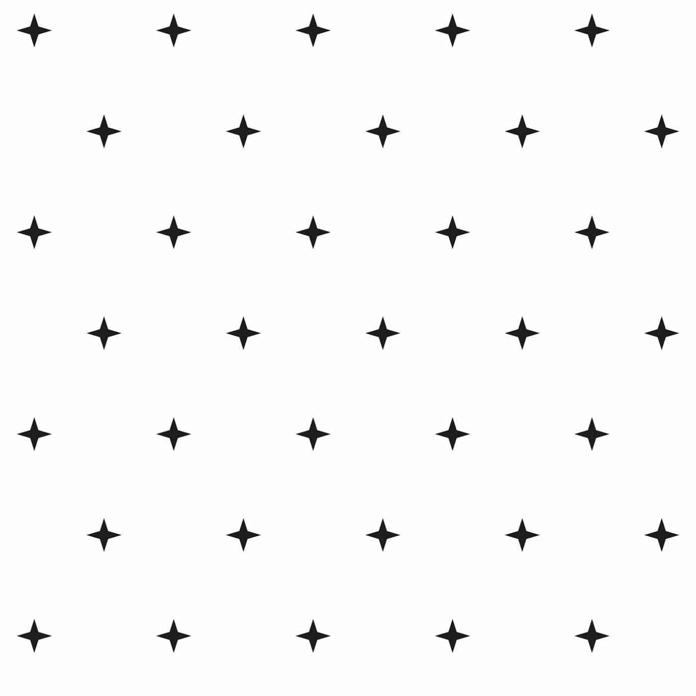 Papel de Parede Estrelas Pretas