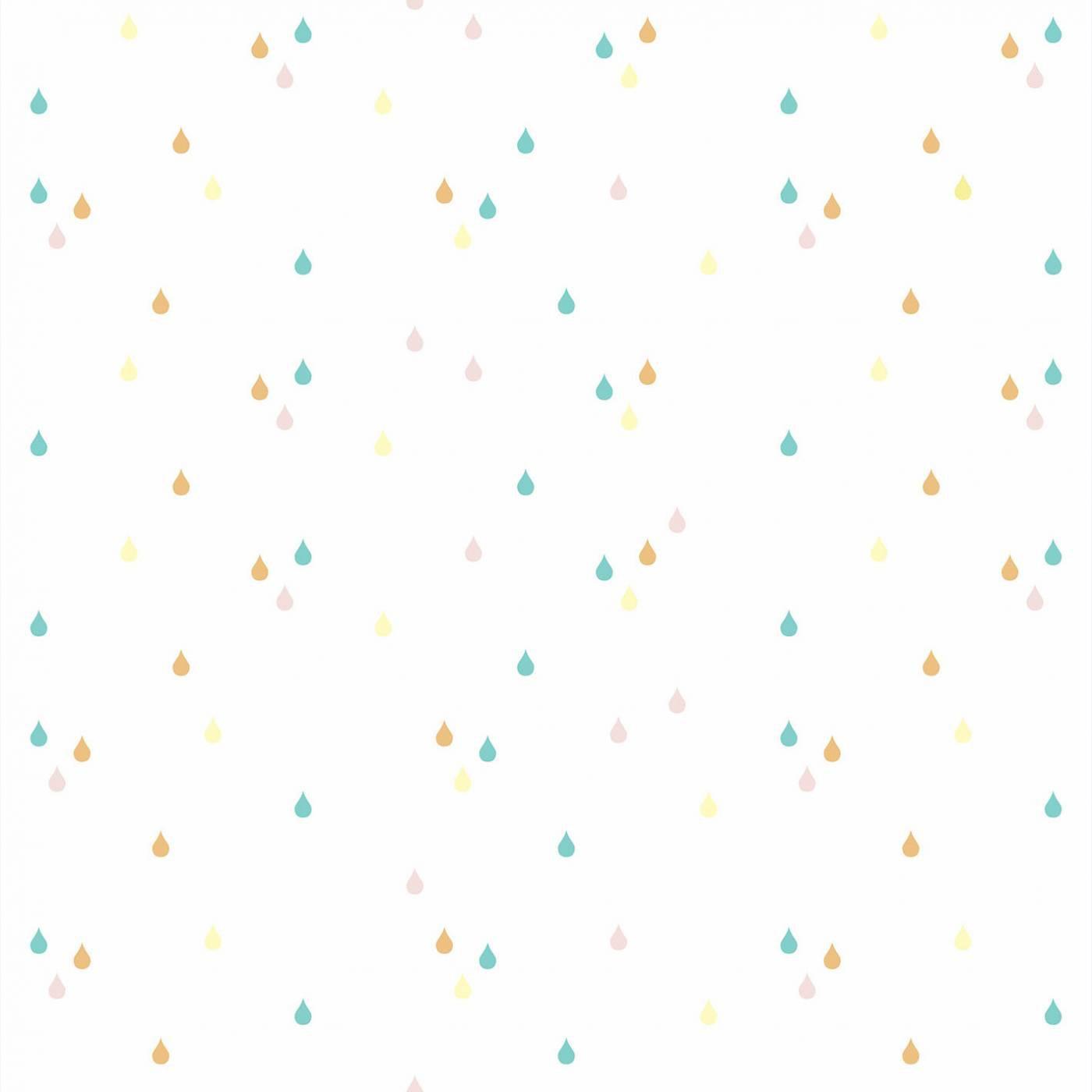 Papel de Parede Gotas Coloridas