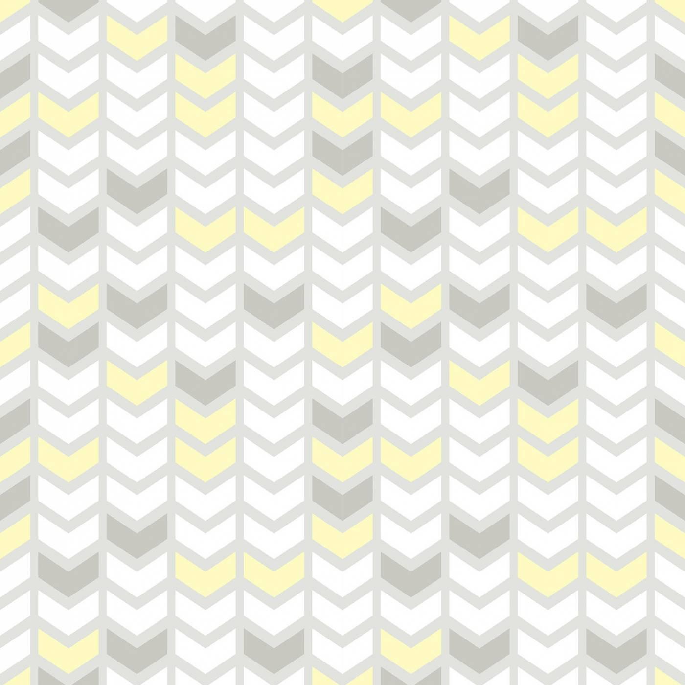 Papel de Parede Setas Amarelo e Cinza