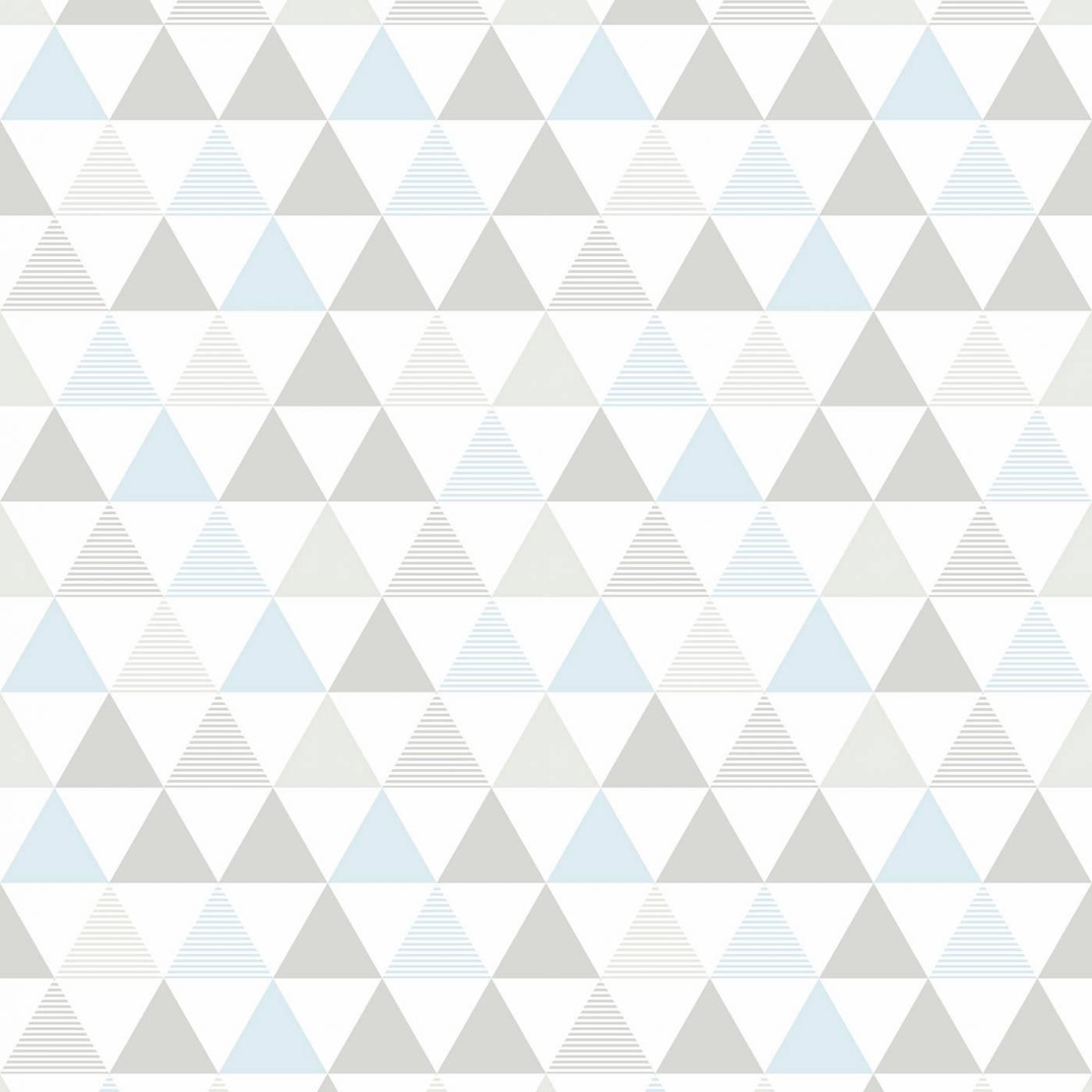 Papel de Parede Triangulo Cinza e Azul
