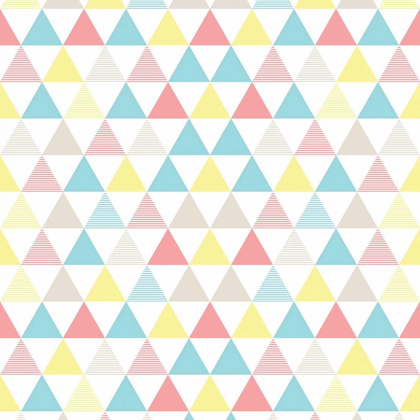 Papel de Parede Triangulo Colorido