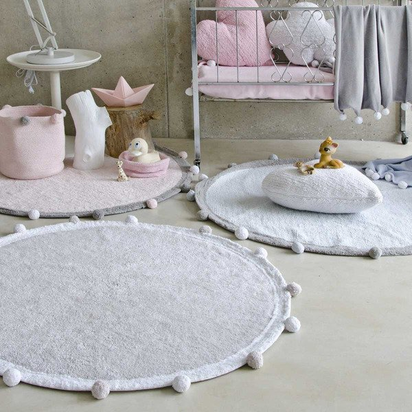 Tapete Bubbly Cinza 120cm Lorena Canals