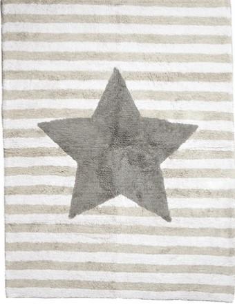 Tapete Estrela Cinza 120 x 160cm