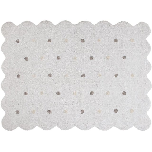 Tapete Galleta Branco 120 x 160cm Lorena Canals