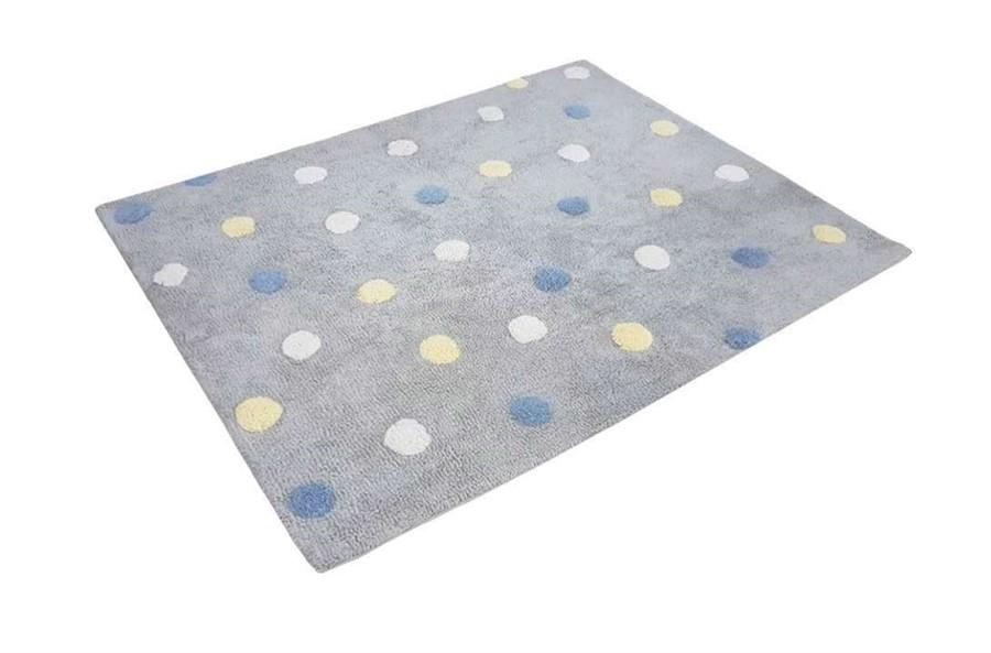 Tapete Multi Dots Azul Amarelo e Branco