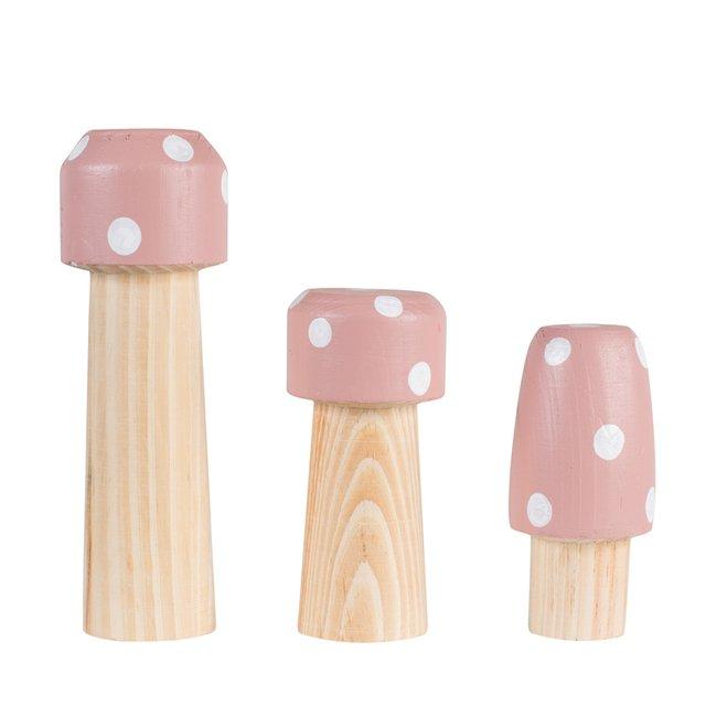 Trio de Cogumelos Palito Rosa