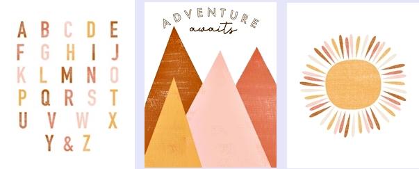 Trio de Quadros Adventure