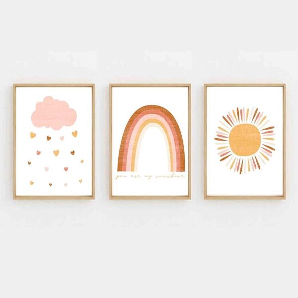 Trio de Quadros Sunshine