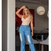 Calça Jeans Mom Detroid-1045Azul