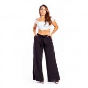 Calça Pantalona Longa com Cintinho - 40005Preto