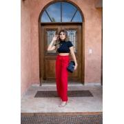 Calça Pantalona Longa com Cintinho - 40005Vermelho