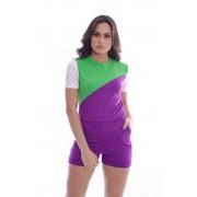 Conjunto de Short e Blusa Tricolor - Life Colors