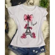 T-shirt Paris Rosa - BL008