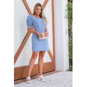 Vestido Curto c/ Lastex - 30072AzulBB