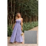 Vestido Longo Listrado - 30067Preto