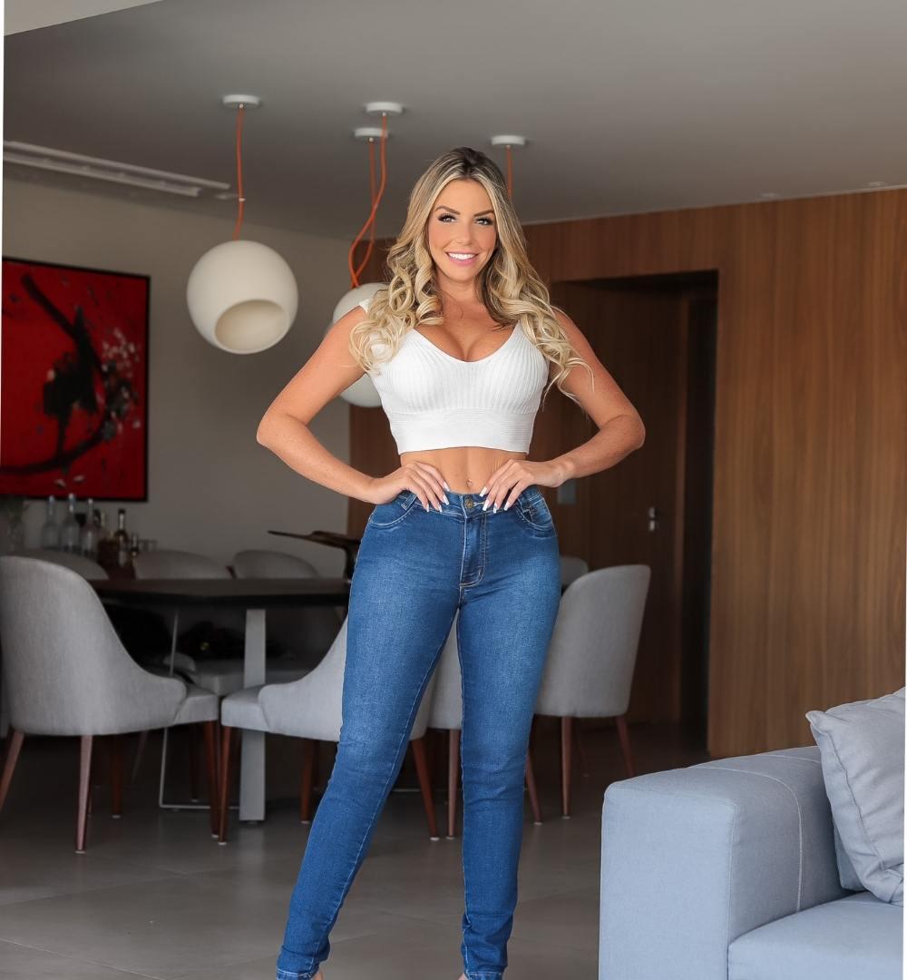 Calça Jeans Skiny-0911Azul