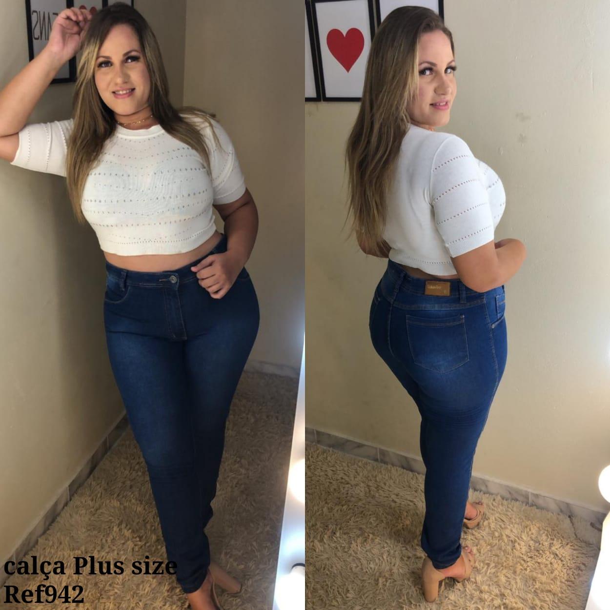 Calça Jeans Tradicional PLUS - 0942Escuro