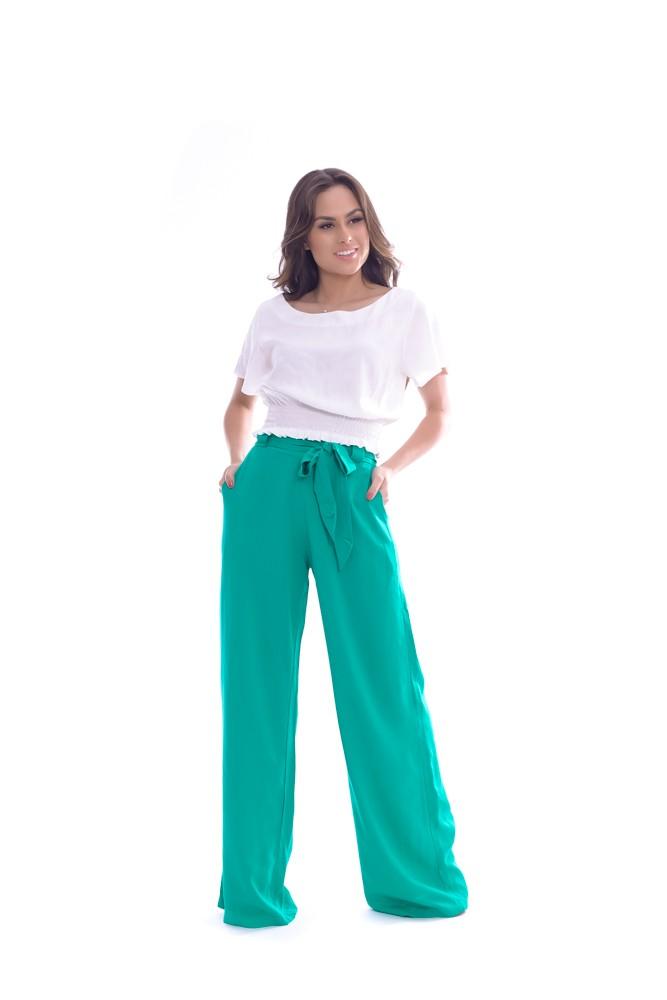 Calça Pantalona de Viscolinho - Life Color