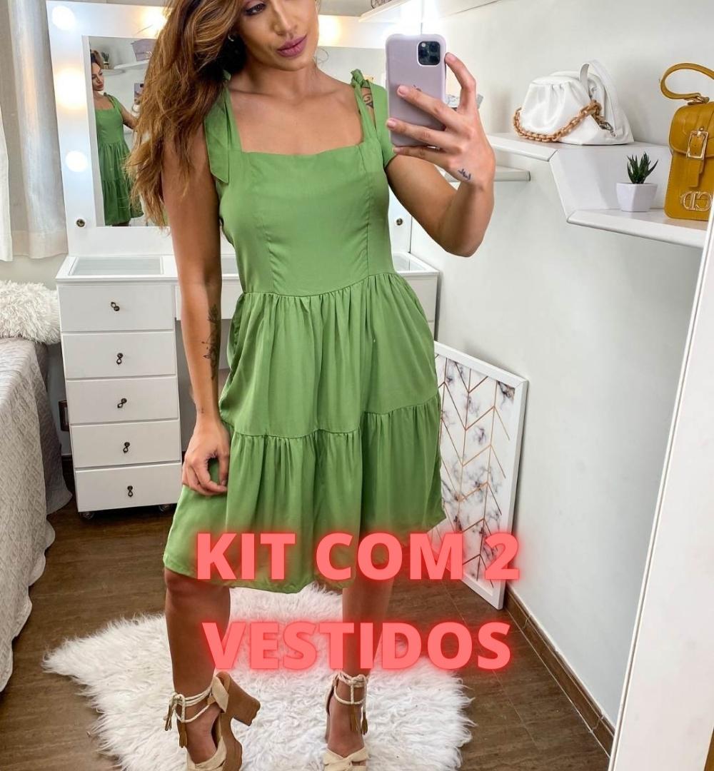 Kit de 2 Vestidos Viscose-KIT002