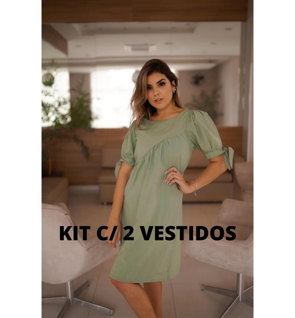 Kit de 2 Vestidos Viscose-KIT003