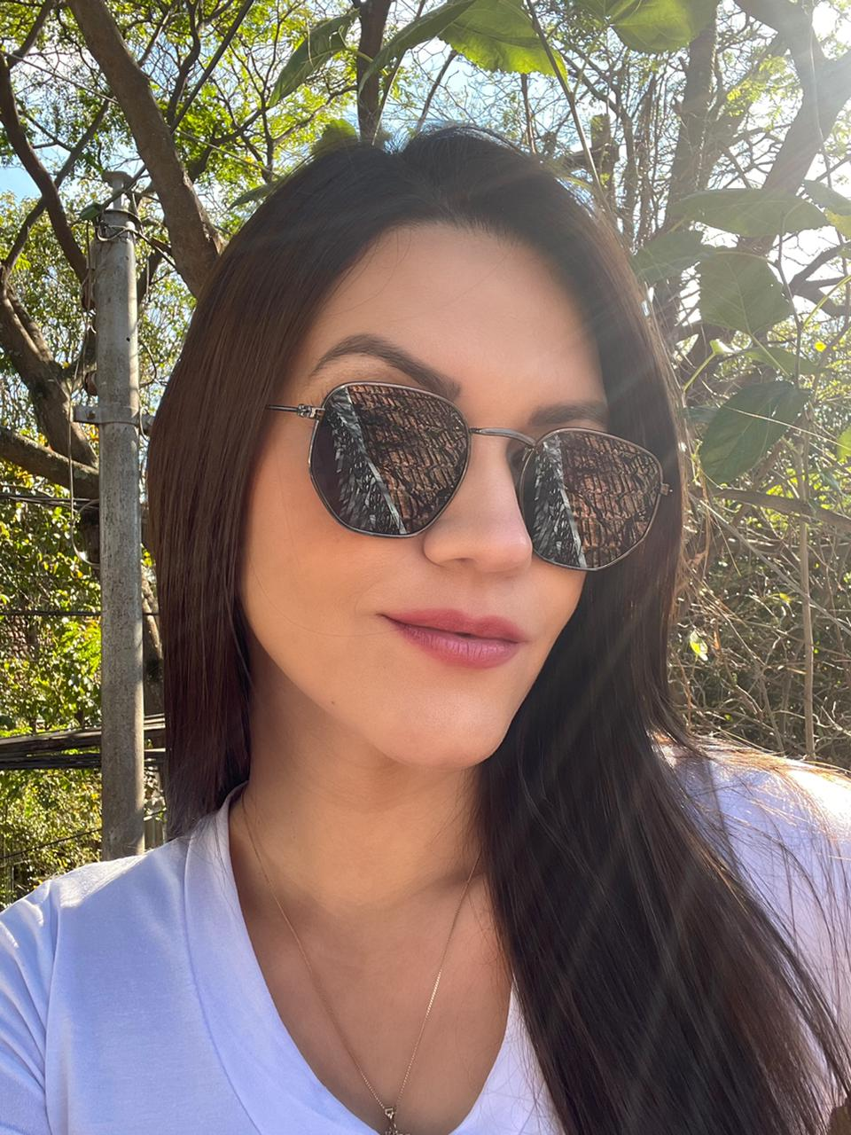Óculos Exagonal Ana Preto