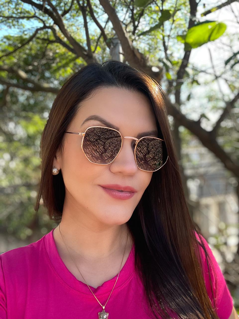 Óculos Exagonal Ana Rose