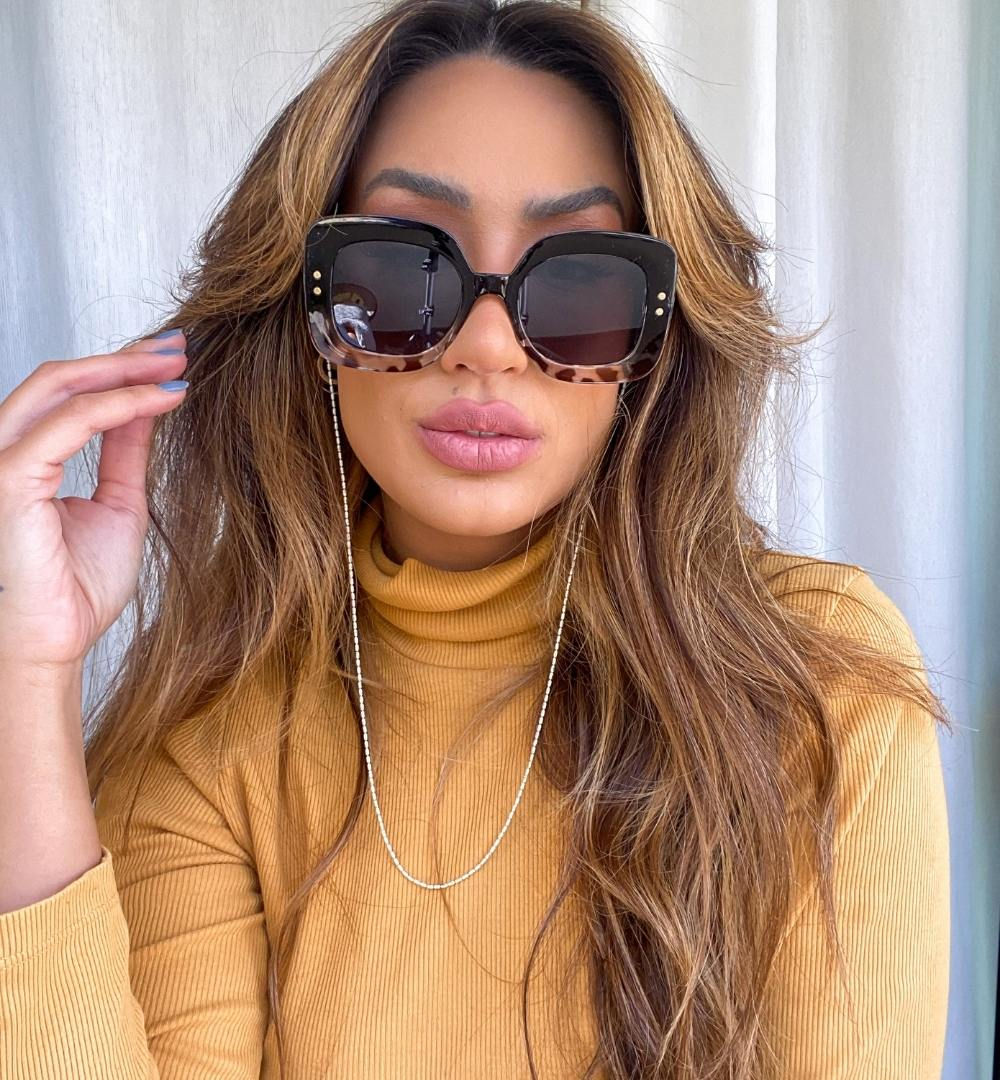 Óculos Malu Oncinha Black