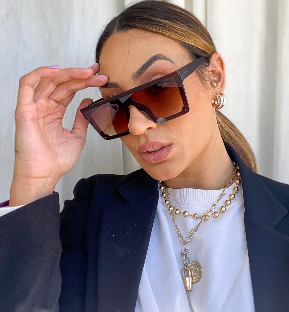 Óculos Thalita Marrom Fosco