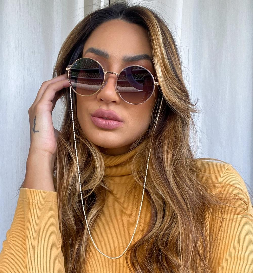 Óculos Vivi Preto c/ Dourado